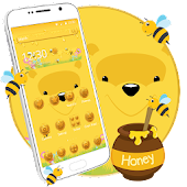 Cute Yellow Bear Cartoon Theme Android APK Download Free By Fancy Theme Palace