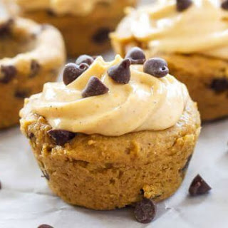 Pumpkin Chocolate Chip Cookie Cups with Pumpkin Cream Cheese Frosting