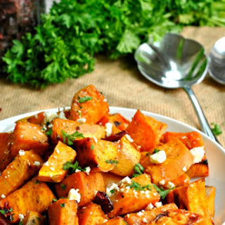 Roasted Sweet Potatoes with Feta.