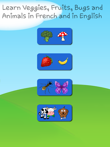 Frencn and English Animals Bugs Fruits Vegetables  screenshots 6