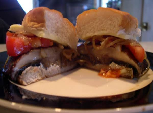 Portabella Mushroom Burger With Carmelized Onions