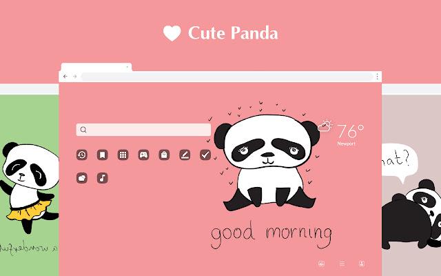 Cute Panda HD Wallpapers New Tab Theme