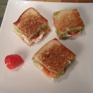 Salmon, Avocado and Peppadew Grilled Cheese Minis.