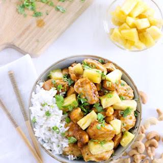 Skinny Pineapple Chicken with Cashews Recipe