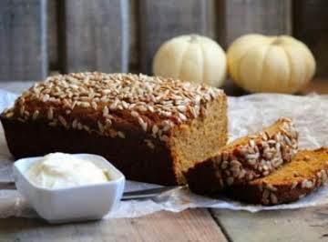 Pumpkin Bread with Orange Cream Cheese
