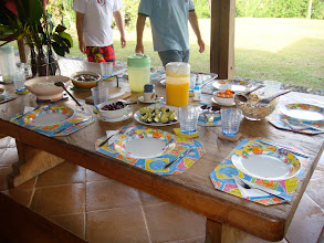 Photo: The Finca's full-time service staff prepares all meals and arranges the table for the appropriate number of guests. Breakfast, lunch, and dinner (with many snacks in between!) are served whenever the guest is ready for them.
