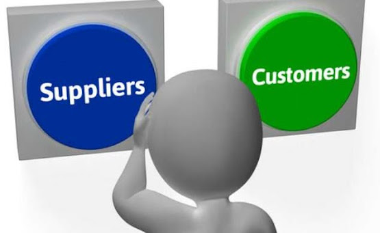 Supplier and customer buttons