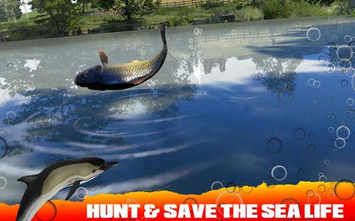Spearfishing Wild Shark Hunter - Fishing game apkpoly screenshots 2
