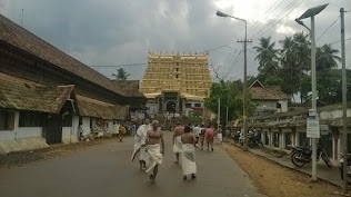Heavy clouds over the Padmanabhaswamy temply