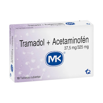 Tramadol + Acetaminofén   MK 37.5mg / 325mg Tabletas Caja x10Tab.
