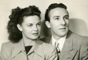 Georgette and Baci's wedding photo, Nov. 8, 1948