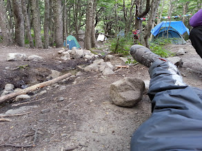 Photo: We camped here on the first night, with the sound of a little stream