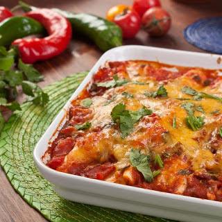 Mexican Vegetarian Bean & Cheese Enchiladas