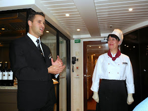 Photo: We arrive for our Chef's Table dinner - Daniel welcomes us with the Chef