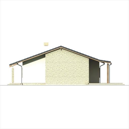 Antek wersja B z pojedynczym garażem - Elewacja prawa