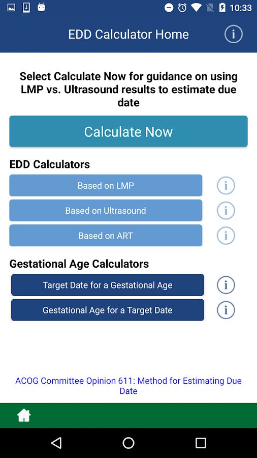 dating criteria acog The acog pregnancy app consists of simple blue rectangles that calculate the  estimated date of delivery (edd) based on various data: a.