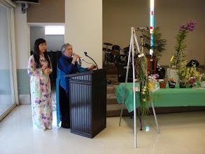 Photo: Hội trưởng Đặng Hoàng Mai bắt đầu buổi họp