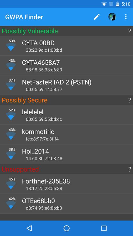 GWPA Finder - Greek WPA Finder - στιγμιότυπο οθόνης