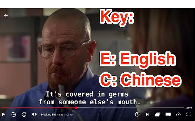 Netflix Shortcuts for English/Chinese Caption