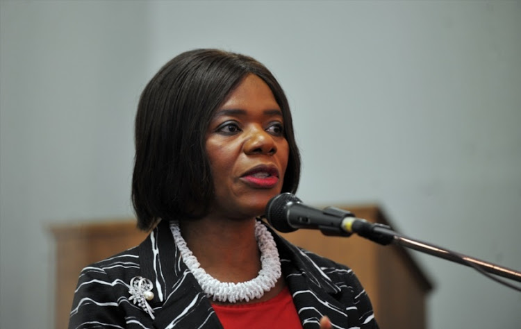 Former Public Protector; Advocate Thuli Madonsela speaks during a media conference at the Cape Town Press Club on January 16, 2017 in Cape Town.