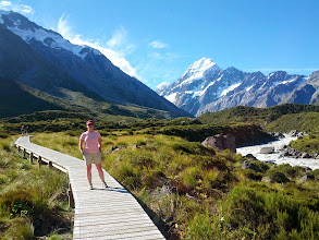 Photo: Walking to the Hooker glacier at Mt Cook park