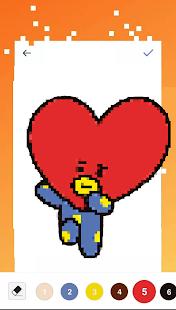 BTS Pixel Art - BTS Color By Number