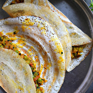 Masala Dosa With Sweet Potato Filling [Vegan, Gluten-Free]