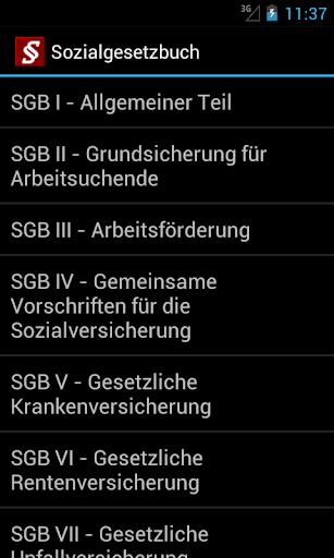 Sozialgesetzbuch screenshot 3