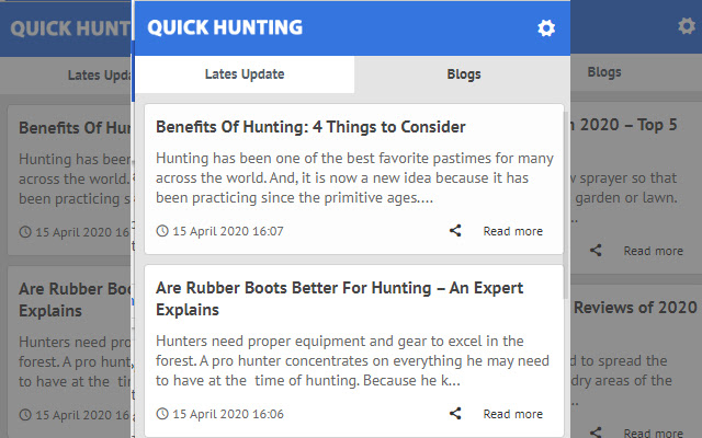 Quick Hunting - Latest News Update
