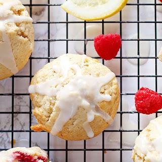 Raspberry Lemon Muffins with Lemon Glaze