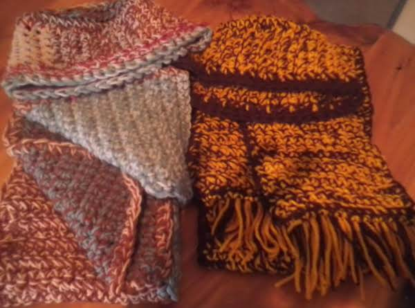 Some Scarves With Matching Hats.