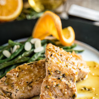 Orange-Rosemary Seared Salmon.