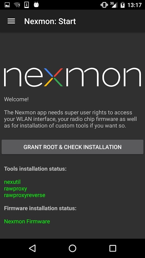 Nexmon [ROOT, Broadcom WiFi]- screenshot