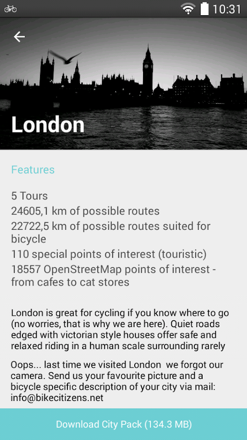 Bike Citizens - Bicycle GPS- screenshot