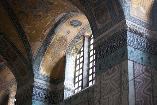 Hagia-Sophia - The colorful interior of Hagia Sophia, now a museum, in Istanbul.