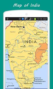 India Political Map - náhled