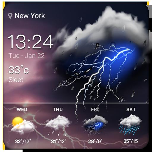Clock & Weather - Thunder