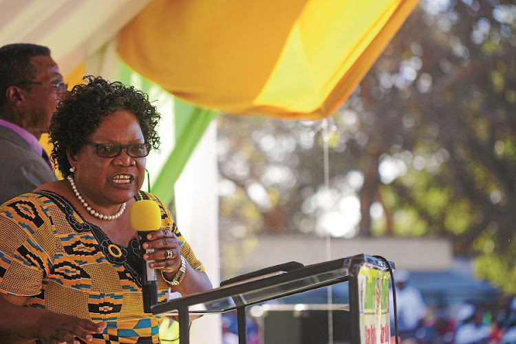 Joice Mujuru. Picture: Picture: GALLO IMAGES/AFP/ZINYANGE AUNTONY