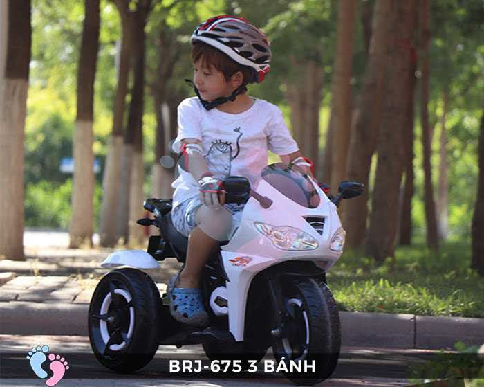 Xe moto điện trẻ em BRJ-675 3 bánh 6
