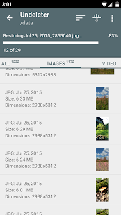 Undeleter Recover Files & Data- screenshot thumbnail