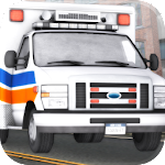 Ambulance Driving 3D Icon
