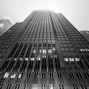 Minneapolis Skyscraper by Jeffrey Zoss - Buildings & Architecture Office Buildings & Hotels ( building, black and white, minneapolis, canon 5d mark iii )