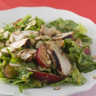 Romaine Salad with Chicken, Apricots & Mint