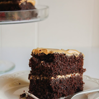 Rich Chocolate Cake with Coffee Frosting