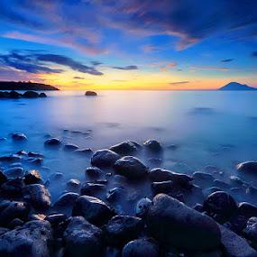 Dark Stones by Andrew Supit - Landscapes Sunsets & Sunrises