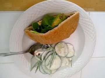 Creamy Cucumbers with Snow Peas