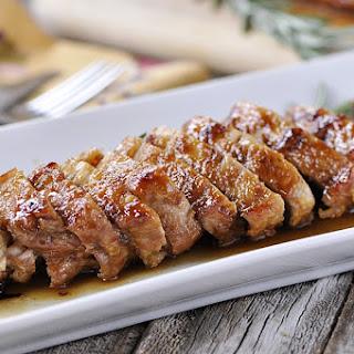 Roasted Maple Glazed Pork Tenderloin.