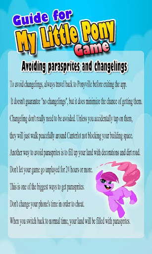 Guide for My Little Pony Game