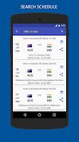 Screenshot of Cricket Schedule