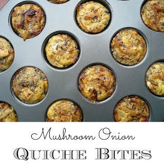 Mushroom Onion Quiche Bites.